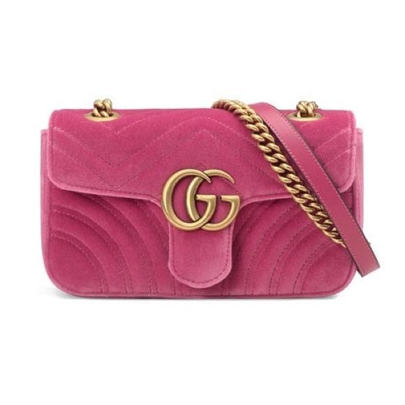 d911a9e5cbb Gucci Handbags - GUCCI GG Marmont Quilted Velvet Shoulder Bag